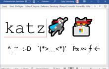 Beispiele mit Emojis, Kaomojis und Sonderzeichen