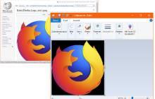 Firefox-Logo aus Wikipedia erhält bei Übernahme in Paint schwarzen Hintergrund