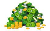 Geldhaufen US-Dollar