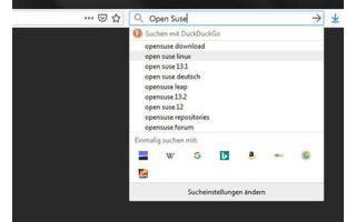 Suchfunktion in Firefox anpassen