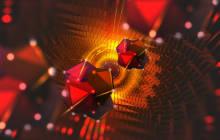 Abstrakte Darstellung für Quanten Computing