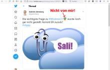 Screenshot Twitter-Post mit unerwünschtem Zusatz-Emoji