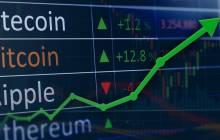 Szeigender Börsenkurs Bitcoin
