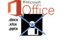 Office-Logo, durchgestrichene Diskette