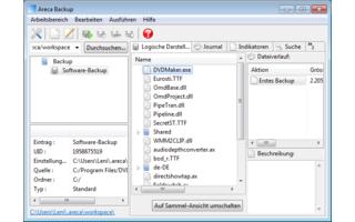 Areca Backup erstellt komplette, differenzielle und inkrementelle Backups von Dateien, die sich verschlüsseln und komprimieren lassen.