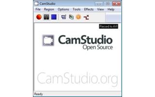 Camstudio ist ein Desktop-Rekorder, der Ihre Bildschirmaktionen aufzeichnet und als AVI-, MP4- oder SWF-Datei speichert.