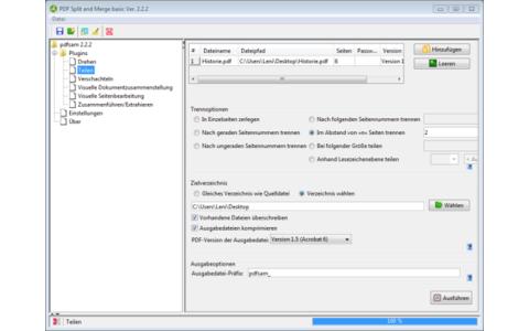 PDF Split and Merge (PDFsam Basic) trennt PDF-Dateien. Zudem fügt das Tool mehrere PDF-Dateien zu einer zusammen.