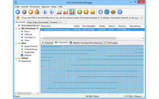 Free Download Manager - Das Tool nutzt parallele Downloads, um große Dateien schneller herunterzuladen. Zudem hat die Freeware eine integrierte Zeitplanung, um Downloads zu bestimmten Zeiten zu starten. Diese erlaubt es auch, den PC automatisch herunterzu