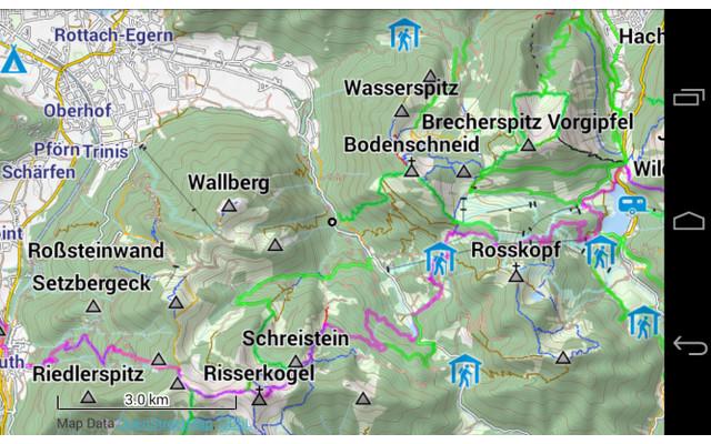 Topographische Karte Deutschland Kostenlos.Kostenlose Rad Und Wanderkarten Fur Android Com Professional