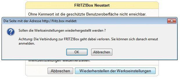Fritzbox Notzugang
