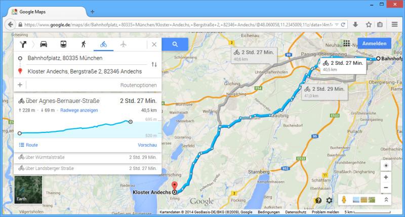 Höhenmeter Karte.Google Maps Zeigt Höhenmeter Für Radler An Com Professional