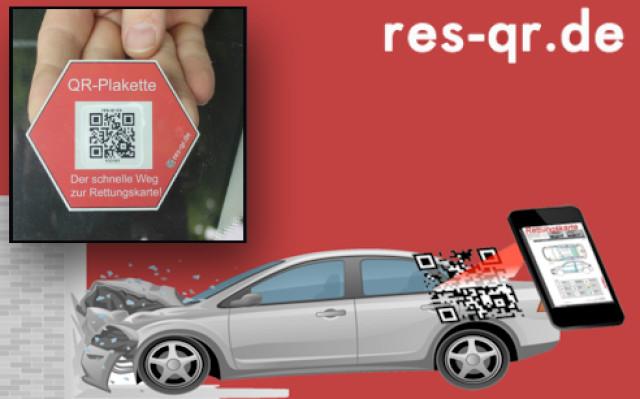 Qr Code Sticker Führt Zur Kfz Rettungskarte Com Professional