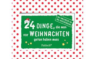 24 Dinge, die man vor Weihnachten getan haben muss - Witzige, ungewöhnliche und teils auch etwas absurde Inspirationen finden sich in diesem mit liebevollen Illustrationen geschmückten Kalender für die Hosentasche.