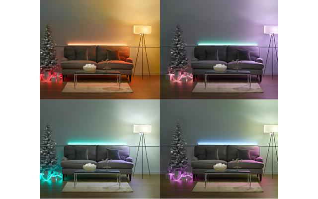 """LED-System hue von Philips - Polarlichter am Weihnachtshimmel oder karibische Sonnenaufgänge: mit bis zu 16 Millionen Farben und zahllosen """"Lichtrezepten"""" erzeugt hue eine perfekte Wohnatmosphäre."""