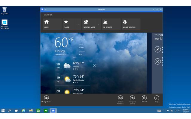 Verbessertes Arbeiten mit Apps: Im neuen Windows 10 arbeiten Apps aus dem Windows Store wie ganz herkömmliche Programme