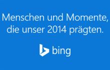 Microsofts Internet-Suchdienst Bing hat die beliebtesten Suchbegriffe der Deutschen 2014 veröffentlicht. Im Online-Rampenlicht stehen vor allem Sportler, Musiker und andere Promis.