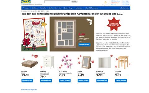 Auch Ikea hat es sich nicht nehmen lassen, jeden Tag mit einem Angebot zu werben.