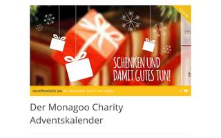 """""""Schenken und damit Gutes tun"""" verspricht auch Monagoo.com mit seinem Adventskalender. Der Nachhaltigkeits-Webshop stellt bis zum 24. Dezember jeden Tag eine andere Wohltätigkeitsorganisation auf Facebook vor."""
