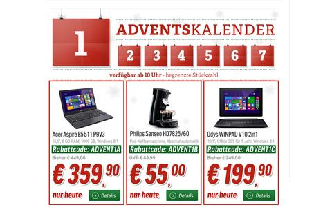 Ab 10 Uhr gibt's auch bei Notebooksbilliger.de täglich Rabatte auf ausgewählte Elektronikartikel.