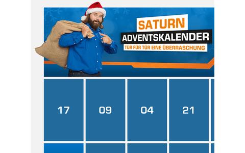 """""""Tür für Tür eine Überraschung"""" verspricht auch Saturn seinen Kunden, mit jeweils einem Technik-Angebot pro Tag. Als Weihnachtsmann fungiert kein geringerer als """"Tech-Nick"""" persönlich."""