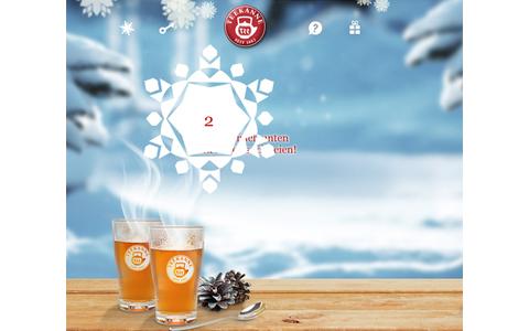 """Wer die richtige Schneeflocke im Adventskalender von Teekanne findet, kann jeden Tag """"eine Reise in die vielfältigen Geschmackswelten des Tees"""" gewinnen."""