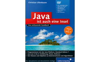 Java ist auch eine Insel: Die 10. Auflage dieses Handbuchs zu Java-Version 7 vermittelt auf knapp 1300 Seiten die Grundlagen der Java-Programmierung bis hin zu NetBeans.