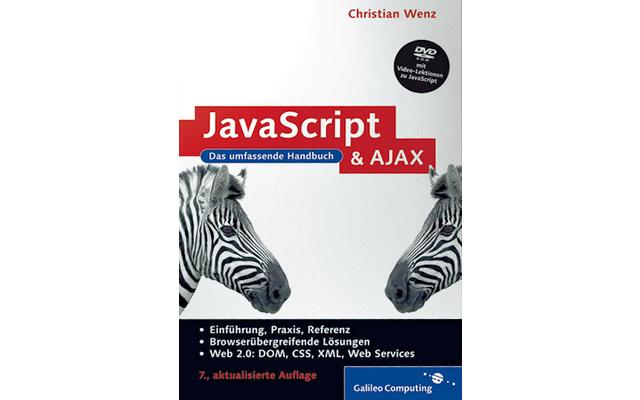 JavaScript und AJAX: Der erste Teil dieses Standardwerkes zu JavaScript vermittelt anhand von Beispielen eine umfangreiche Einführung in die Scriptsprache. Im zweiten Teil kommen dann auch JavaScript-Kenner auf ihre Kosten.
