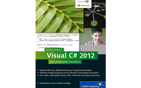 Visual C# 2012: Bereits in der 6. Auflage begleitet dieses Kompendium ambitionierte Ein- und Umsteigern bei allen Fragen der C#-Entwicklung. Fortgeschrittene und Profis unterstützt es hingegen als Nachschlagewerk optimal bei ihrer täglichen Arbeit.