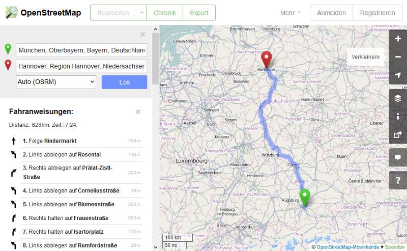 Openstreetmap Startet Eigenen Routenplaner Com Professional