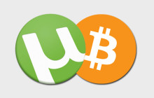 utorrent und Bitcoin Logo
