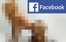 Facebook verpixelte nackte Frau