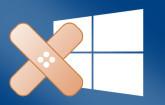 Windows mit Pflaster