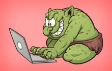 Troll mit Notebook-PC
