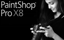 Frau mit Kamera PaintShop Pro X8