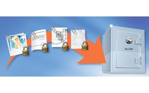 De-Safe: Der De-Safe ist eine sichere und dauerhafte Dokumentenablage auf dem Server des De-Mail-Anbieters. Alle im De-Safe gespeicherten Dokumente wie Bilder, Verträge, Kontoauszüge, Zugangsdaten oder Mitteilungen sind verschlüsselt und können nicht verä