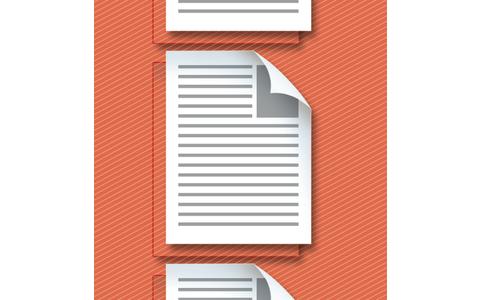 Verschlüsselung: Ein verschlüsseltes PDF zeigt dem Betrachter nur eine als Bild gespeicherte Kopie der Seiten. Die Originale – hier rot dargestellt – sind geschützt.