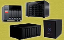 Vier NAS-Systeme