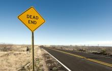Straßenschild Dead End