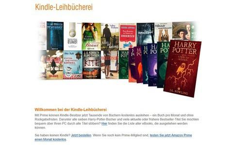 Amazon Kindle Leihbücherrei