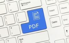 PDF auf Tastatur