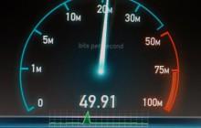Speedtest für das Internet