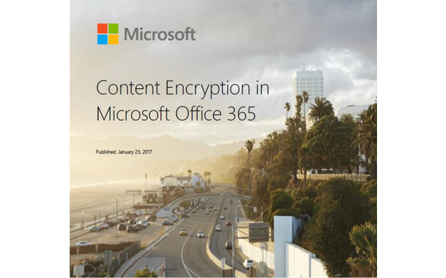 Content Encyption in Microsoft Office 365
