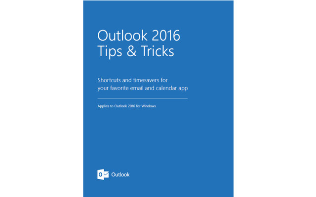 Outlook 2016 Tips and Tricks
