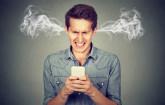 Angry Smartphone User