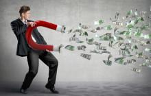 Manager mit Geldmagnet
