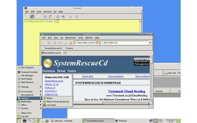 System Rescue CD repariert beschädigte oder gelöscht geglaubte Daten nach einem Systemabsturz. Außerdem versucht das Live-System, defekte Partitionstabellen zu rekonstruieren und nicht bootende Festplatten wieder startfähig zu machen.