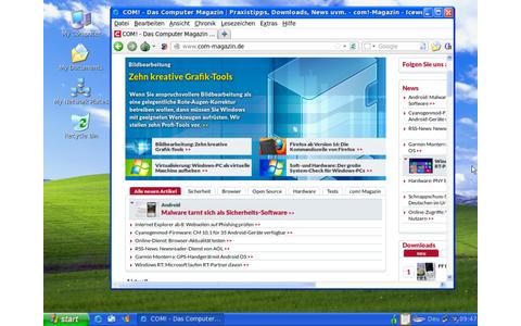 Tails lässt sich mit einer XP-Tarnung starten, sodass das Betriebssystem nicht mehr wie Linux aussieht, sondern wie Windows XP und sich auch ähnlich bedienen lässt. Das Live-System, startet Ihren PC von DVD oder vom USB-Stick, ohne Spuren zu hinterlassen.