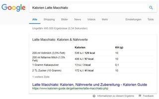 Google Kalorien