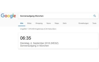 Google Sonnenaufgang