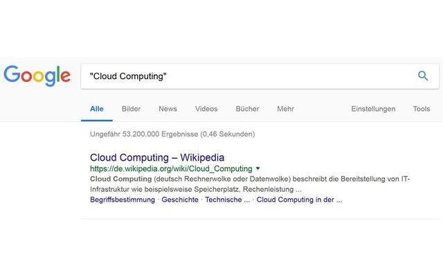 Google-Suche mit Anführungsstrichen